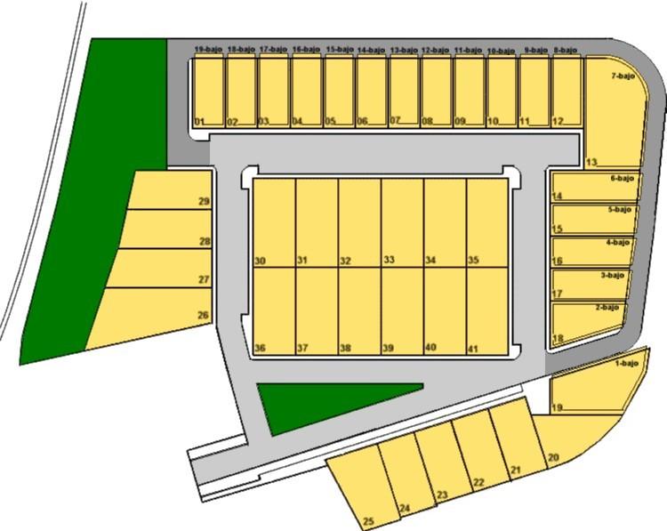 Plano Parcelario del Polígono Industrial Las Doblas (Las Yeguas)