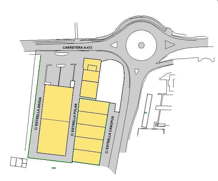 Plano Parcelario del Polígono Industrial Plan Parcial 10
